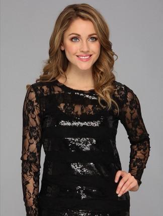 Блузка Ariat Lace Sequin Top-Black